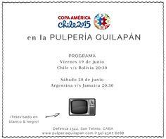 Mirá la #CopaAmericaChile2015 en la Pulpería en TV blanco&negro ¡Vamos Argentina! http://pulperiaquilapan.com/event/copa-america-en-blanco-y-negro/?instance_id=4747554