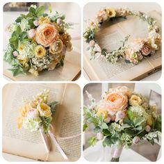 . ラナンキュラスでまとめたナチュラルで可愛いアイテムたち オーダーメイドでおつくりしました  blogで詳細をご覧頂けます http://mille-la-chouette.jp/order-diary/7040/  #ウェディング#wedding #ブライダル#クラッチブーケ#ブーケ#花冠#花飾り#ナチュラル#花嫁