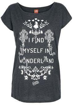 I Find Myself In Wonderland - T-Shirt von Alice im Wunderland