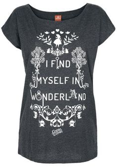I Find Myself In Wonderland - T-shirt van Alice In Wonderland