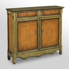 love the finish  Find it at the Foundary - 2 Door Cupboard - Tuscan /Acorn
