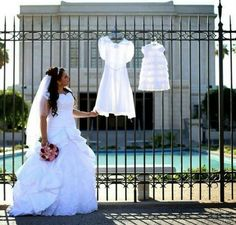 The three dresses: this is too cute!! Maybe have them at the reception!! :)