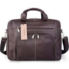 TOPBAG Leather Mens Brown Business Bag Briefcase Messenger Shouler Bag NM1869 ** Check this awesome product by going to the link at the image.