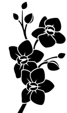 Svg flower Stencil Fabric, Stencil Patterns, Stencil Painting, Stencil Designs, Fabric Painting, Stencils, Silhouette Clip Art, Silhouette Images, Flower Pattern Drawing