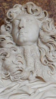 Fameuse buste de Louis XIV par Bernini, château de Versailles, grands appartements