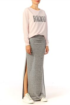 Falda larga / medio larga - masan long skirt - Gris Vila promoción en MonShowroom.com