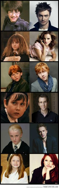 Harry Potter then and now. There's magic involved here…
