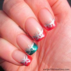 Bow Holiday French TIps