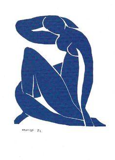 Postkaart Titel: Blauw Naakt – Blue Nude. Kunstenaar: Henri Matisse. Kunst op postkaart in de Art Gallery van Muset
