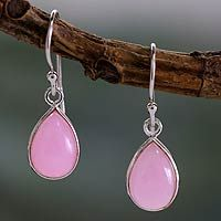 Sterling silver dangle earrings, 'Rose Fashion'