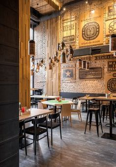 Star Burger (Kiev, Ukraine) Sergey Makhno Architects - Restaurant & Bar Design