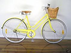 A yellow bicycle would make me so happy!