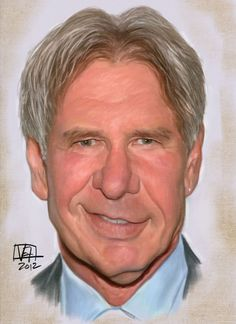 Harrison Ford by Vincent Altamore Caricature Artist, Caricature Drawing, Funny Caricatures, Celebrity Caricatures, Harrison Ford, The Jackie Robinson Story, Actors Male, Music Pics, Joker And Harley Quinn