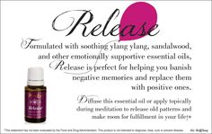 Release is one of many Essential Oils that Young Living offers that replaces negative feelings with happy ones! Essential Oils For Sleep, Yl Essential Oils, Young Living Essential Oils, Essential Oil Diffuser, Essential Oil Blends, Young Living Release, Calming Oils, Pure Oils, Young Living Oils