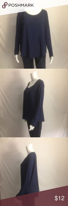 """Nice Blouse by French Connection Excellent, like-new condition.  This is an awesome navy blue, super soft (!) blouse by French Connection.  It has a rounded neckline and full length sleeves.  Made of Poly and machine washable.  Approximate length is 25"""" and it's a Size: L French Connection Tops Blouses"""