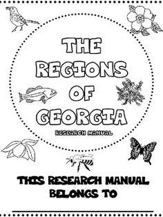 Regions of Georgia Research Manual- Georgia 3rd Grade