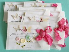 Love the glassine bags as envelopes for the birthday invitations