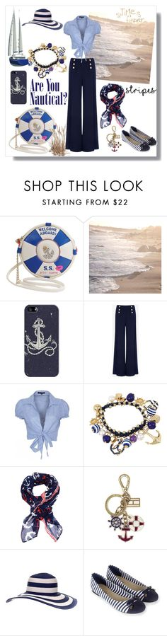 """""""Nautical"""" by ceridwen86 ❤ liked on Polyvore featuring Betsey Johnson, Casetify, Ted Baker, QED London, bleu, Cozy by LuLu, Tommy Hilfiger, Accessorize, stripes and Nautical"""