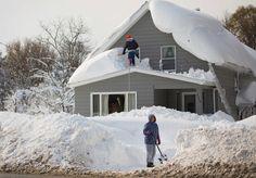 Lake effect snow, near Buffalo, N.Y., November 2014.