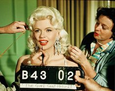 Jayne Mansfield makeup test for 'The Girl Can't Help It', 1956.