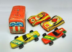 Vintage Soviet Russian Set Mini Baby Cars Tin of the Soviet Union 5 PCS  #Unbranded