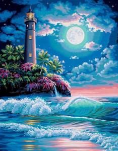Lighthouse in MoonLight Cross Stitch Pattern***L@@K*** by JAYBLUEJAY1