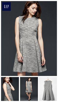 Scuba fit & flare dress