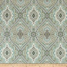 Swavelle/Mill Creek Purana Damask Breeze from Screen printed on a…