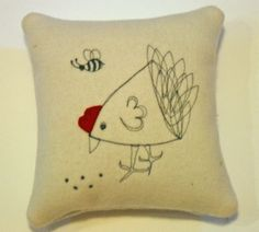 Cushion Cover Patterns Design by Snapdragon - Chicken Pattern