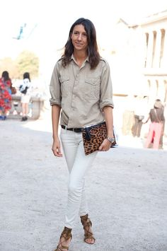 simple, soft, white pants