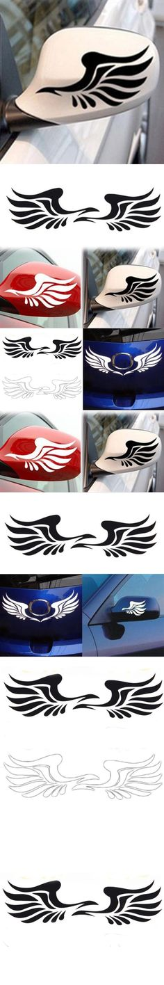 Dewtreetali 2pcs New Design Personality Fire Wings Side Mirror Car Styling Stickers Decorative Stickers Free Shipping