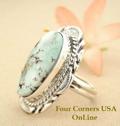Four Corners USA Online Native American Artisan Jewelry - Elongated Dry Creek Turquoise Stone Ring Size 7 1/4 Thomas Francisco Native Indian Silver Jewelry NAR-1435, $192.00 (http://stores.fourcornersusaonline.com/elongated-dry-creek-turquoise-stone-ring-size-7-1-4-thomas-francisco-native-indian-silver-jewelry-nar-1435/)
