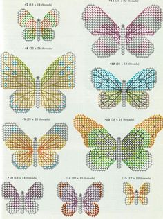 Image result for butterfly breast cancer plastic canvas pattern
