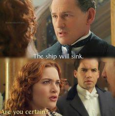 Titanic Titanic Movie Facts, Titanic Quotes, Kate Titanic, Rms Titanic, Love Movie, I Movie, Leo And Kate, Titanic History, Billy Zane