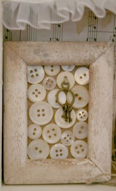 add vintage buttons and keys, starfish or sea urchins