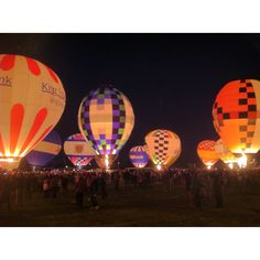 Great Balloon Glow 2012 -- an annual feature of the Derby Festival