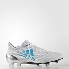 Adidas X Purespeed Firm Ground Cleats (Running White Ftw   Energy Blue    Clear Grey) 311514192c2