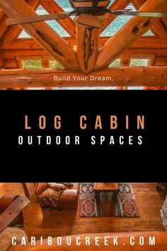 When it comes to log home outdoor living spaces Caribou Creek Log Homes is the place to find inspiration! Check out these images of gorgeous log cabin outdoor designs! Cabin Homes, Log Homes, Log Cabin Bedrooms, Rustic Bedrooms, Log Cabin Kitchens, Rustic Kitchens, Cabin Porches, Log Home Designs, Timber Frame Homes
