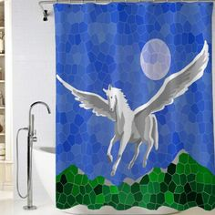 Flying horse Shower Curtain