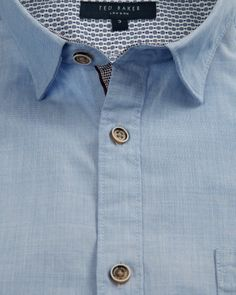 Cotton roll sleeve shirt - Blue | Shirts | Ted Baker UK