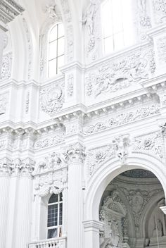 White baroque architecture