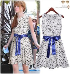 2014 European leg of the new European and American women's summer sleeveless chiffon dress printed dress $18.94