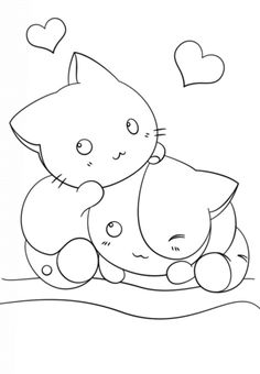 kawaii kittens coloring page from anime animals category select from 24848 printable crafts of cartoons
