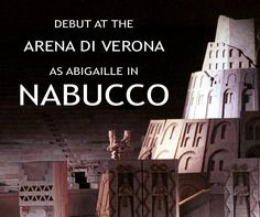 Tonight I make my debut at the @arenaverona as Abigaille in #Nabucco: http://bit.ly/1QGeoud #inarena