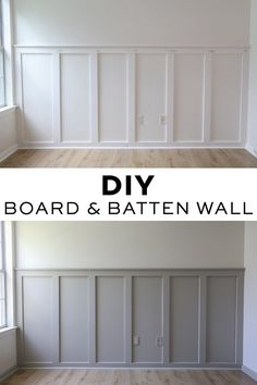 How to easily install a DIY board and batten wall in any room! This budget friendly and simple DIY board and batten accent wall will add instant character to your home! Grey board and batten with whit Home Renovation, Home Remodeling, Architecture Renovation, Diy Wand, Board And Batten, Diy Interior, Interior Modern, Diy Home Improvement, Home Improvement Contractors