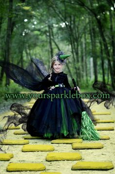 Elphaba Wicked Witch Tutu Dress Costume by YourSparkleBox