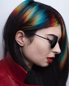 Side Bangs Hairstyles, Oval Face Hairstyles, Cool Hairstyles, Female Hairstyles, Shaved Hairstyles, Haircuts, Medium Thin Hair, Short Thin Hair, Hair Color Blue