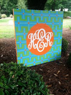 "40""x40"" Monogram Canvas. I would love to hang this above my bed!!"