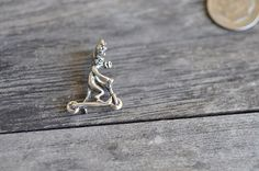 Sterling Silver Moose on the Skooter Sterling by Pearlwearbeads