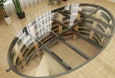 Maxi oval wine cellar - Customer references - Our underground wine cellars in pictures - Helicave - Underground wine cellars Caves, Cave A Vin Design, Küchen Design, House Design, Wine Cellar Basement, Wine Cellar Design, Wine Cellar Modern, Spiral Wine Cellar, Home Wine Cellars
